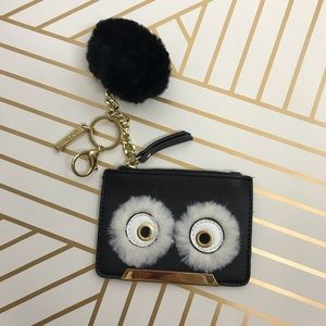 Aldo Vegan Leather Owl Card Holder